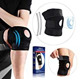 Medical Grade Knee Brace for Women & Men - Ergonomically & Scientifically Proven Designs Knee Compression Sleeve, Professional Athletes Recommend Knee Support for Meniscus Tear, ACL, LCL, MCL - Black