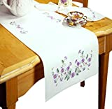 Design Works Crafts T201938-44RN Tobin Rhapsody, 14'' x 44'' Stamped Table Runner for Embroidery