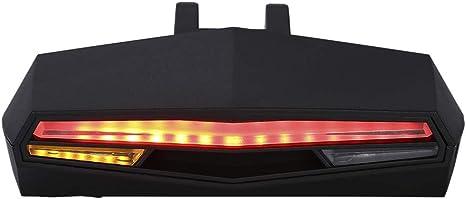 Luz LED trasera para bicicleta con mando a distancia recargable a ...