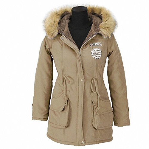 Price comparison product image Autumn Parkas Winter Jacket Women Coats Female Outerwear Casual Long Down Cotton Wadded Lady Woman Fashion Warm Khaki M