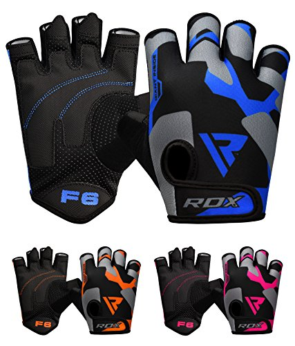 RDX Weight Lifting Gloves Workout Fitness Bodybuilding Gym Crossfit Breathable Powerlifting Wrist Support Training Exercise