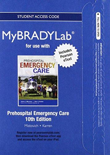 Prehospital Emergency Care Mybradylab