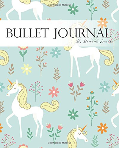 "Bullet Journal Notebook, Dotted Grid,Graph Grid-Lined Paper, Large, 8""x10"", 150 Pages: Unicorn Flower Blue Covers: Master Journaling with Bullet Guide System Professional Journal (Bullet Journals) PDF"