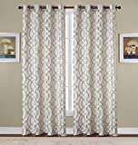RT Designers Collection Dawson Jacquard 54 x 84 in. Grommet Curtain Panel, Silver