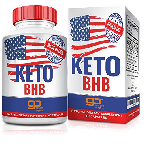 Keto BHB - Exogenous Ketones - Carb-Free Energy Booster, Fuels Ketosis, Boosts Metabolism and Low Carb Diet Support for Healthy Weight Loss - 60 Capsules