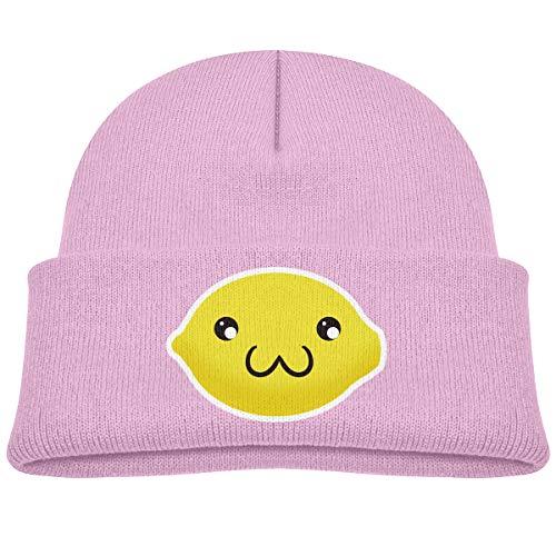 (OlaTd Toddler Beanie Knit Hat Cute Faced Lemon Cute Warm Cotton Soft)