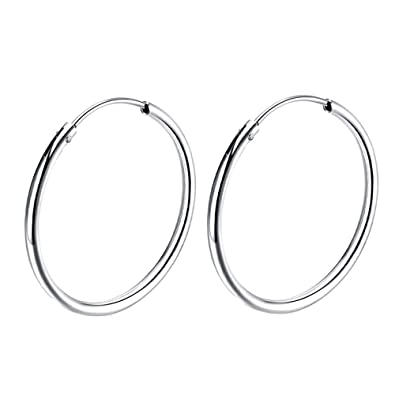 Amazon.com  Sterling Silver hoop earrings For Women Girls 5f74e65c8
