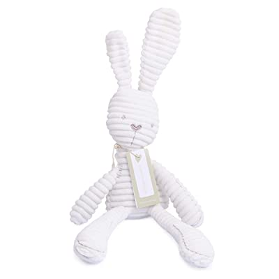 Stuffed Plush Elephant Rabbit Bunny Toy Baby Playmate Soft Cotton Fur Animal Doll (Color : White Rabbit): Kitchen & Dining
