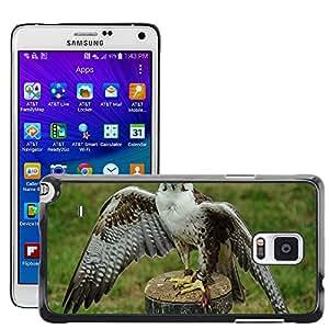 Grand Phone Cases Etui Housse Coque de Protection Cover Rigide pour // M00141447 Falcon Raptor Plumaje Falconidae // Samsung Galaxy Note 4 IV