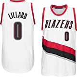 Men's Damian Lillard #0 White Home Jersey Basketball Jersey