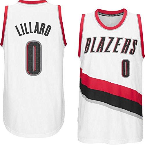 Men's Damian Lillard #0 White Home Jersey Basketball Jersey
