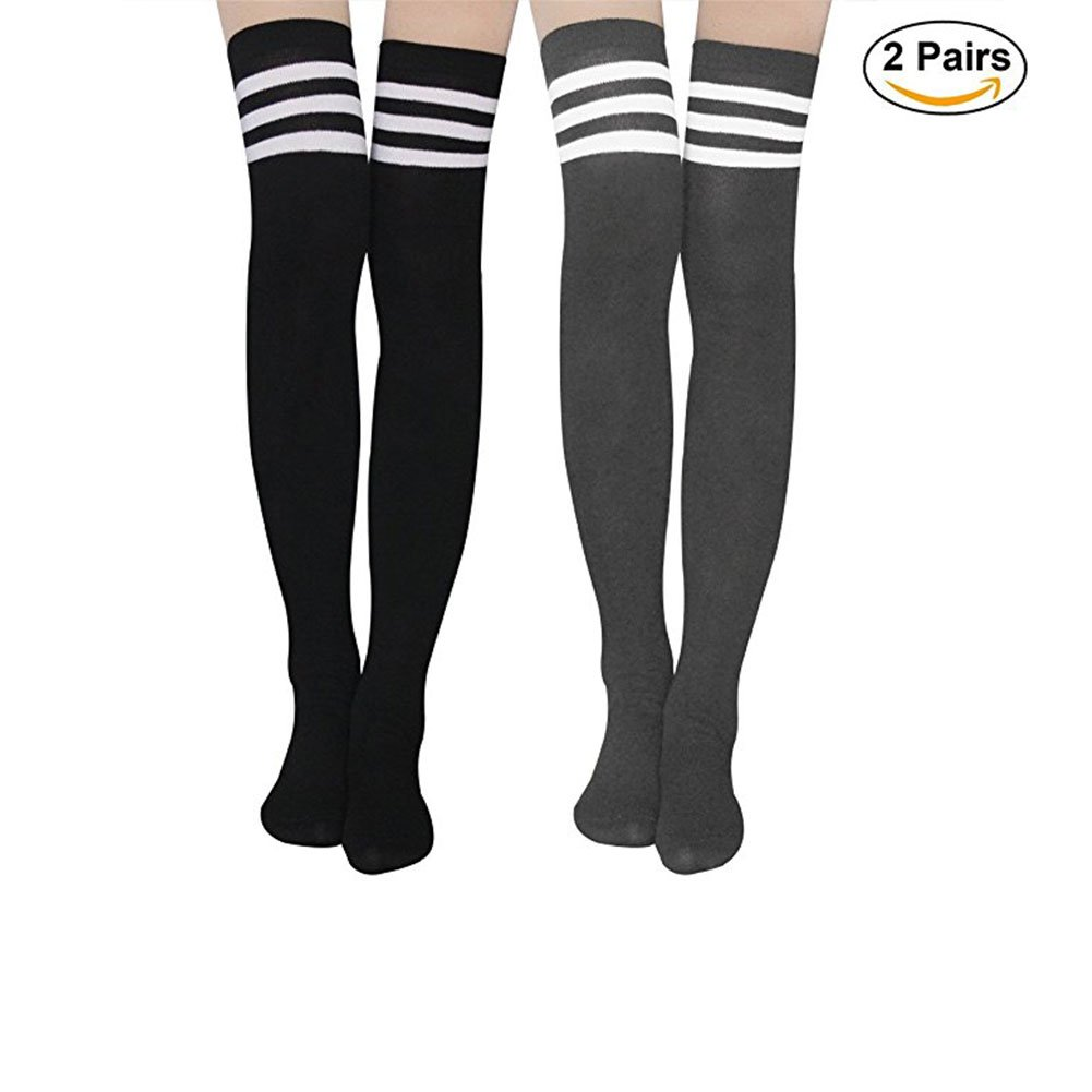46c06c7a653 GREAT MATERIAL - Our striped knee high socks are made from 90% Cotton