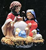 "Christmas Nativity Mini Snow Globe Paper Weight Appox 4""H"