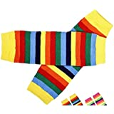 Eco Green Baby - Yellow Rainbow Legwarmers