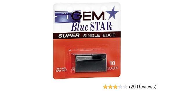 Blue Star Blade Reviews >> Gem Gem Single Edge Blades 10 S