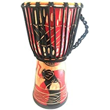 """Hand Carved Elephant Design Djembe Drum Bongo Congo SOLID WOOD Percussion Drum - PROFESSIONAL SOUND/QUALITY - JIVE BRAND (X- Large - 20"""")"""