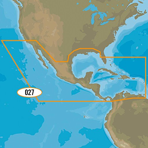 C-map Jeppesen Marine - C-Map Max-N+ Na-Y027 - Central America & Caribbean 3-D View = NONE | Actuator Type = NONE | Card Form