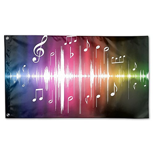 Garden Flag Vivid Music Notes Outdoor Yard Home Flag Wall La