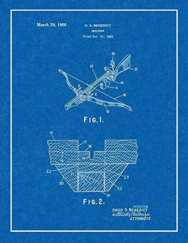 "Crossbow Patent Print Art Poster Blueprint with Border (24"" x 36"") M15642"
