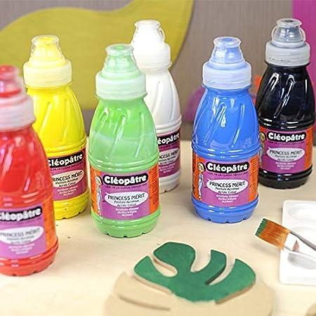Cleopatre - PAM250x4M - Pack de 4 frascos de pintura acrilica, 250 ml, colores metálicas: Amazon.es: Oficina y papelería