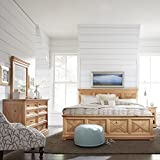 Home Styles 5524-6023 Country Lodge King Bed, Night Stand, Chest, with Dresser & Mirror, Natural Wood Honey Pine Finish