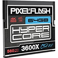 64GB PixelFlash HyperCore CFast 2.0 Memory Card 3600X up to 560MB/s SATA3 C Fast for Phase One Leica Alexa Mini Canon Nikon Hasselblad Blackmagic Ursa and More