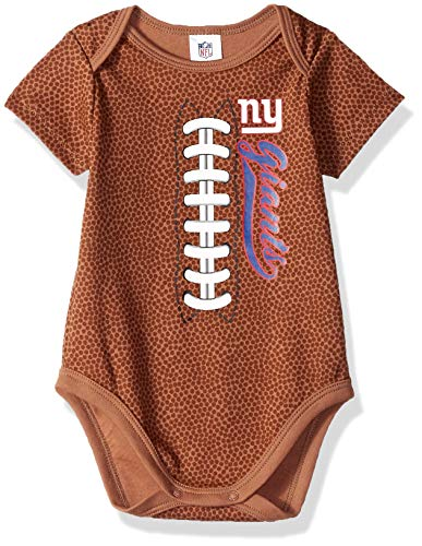- NFL New York Giants Unisex-Baby Football Bodysuit, Brown, 0-3 Months