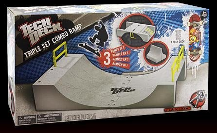 Tech Deck Triple Set Combo Ramp