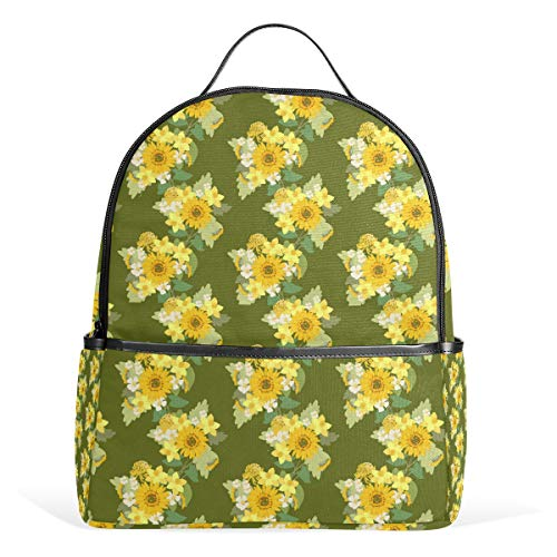 Sunflower Sunshade Bathroom Decoration Travel Backpack Business Anti-Theft Ultra-Thin and Durable Backpack Men and Women Waterproof University Learning Computer Bag