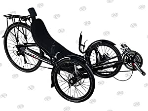 Performer JC70 Recumbent Trike (27S, FRP seat) (Black)
