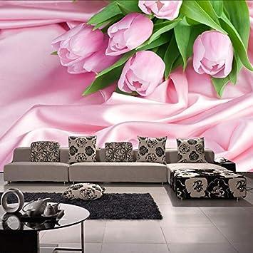 Mural Decorado Con Flores De Papel