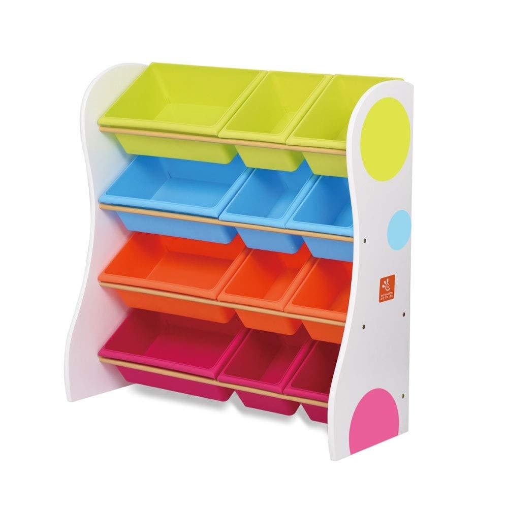 JAJXRCK Kids Toy Storage Organizer Toy Storage Organizer with Color Plastic Bins Shelf Drawer for Kid's Bedroom Playroom Storage Box Shelf Drawer (Color : White, Size : 86cm)