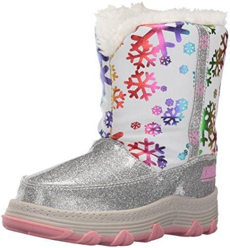 Khombu Kids' Joy Snow Boot - White - 9 M US Toddler