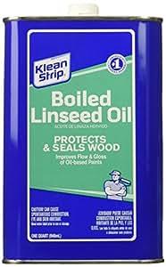 Klean-Strip Green QLO45 Boiled Linseed Oil, 1-Quart