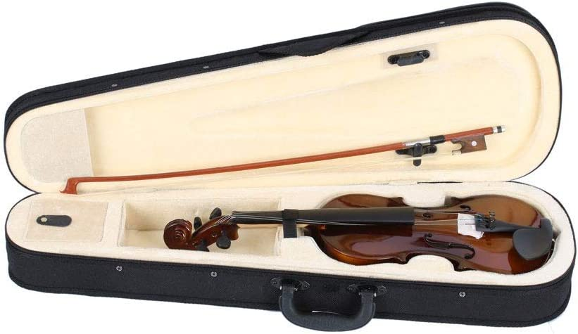 Jskjlkl 1//4 Acoustic Violin Case Bow Rosin Color : Burlywood