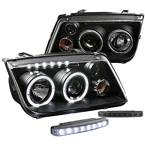 ack Halo Projector Headlights w/Driving LED Fog Lamps (Jetta Halo Projector Headlights)