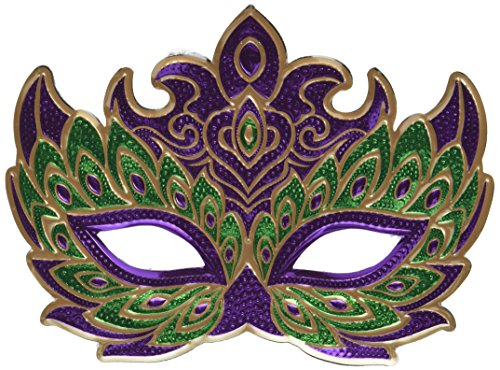 Mardi Gras Holographic Party Mask -