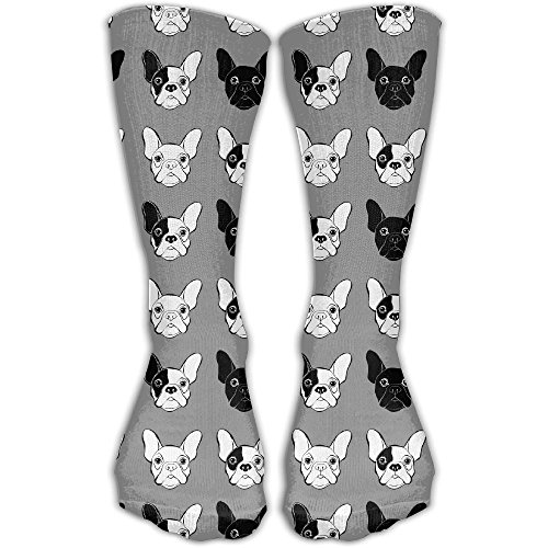 ETcRe Unisex French Bulldog Fashion Crew Sock Athletic Ankle Dress Sock One Size (French Gifts Online)
