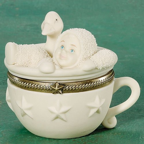 - Snowbabies Two For Tea Bisque Hinged Box