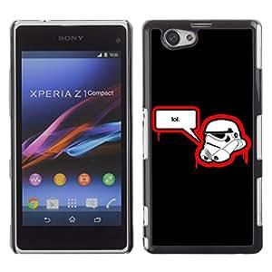 CaseLord Carcasa Funda Case - Sony Xperia Z1 Compact / Stormtrooper LOL /