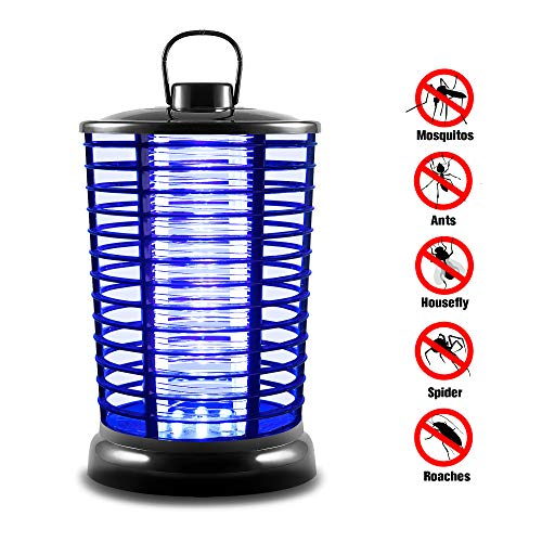 XMSTORE Bug Zapper, Electric Flying Zapper with UV Light, Portable Standing or Hanging for Indoor and Outdoor Use