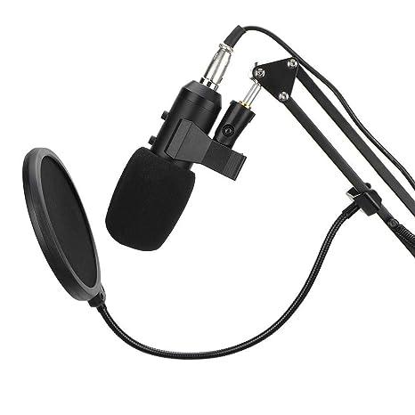 Vbestlife Micrófono para computadora, 800 Reverb Suit 3.5 mm USB ...
