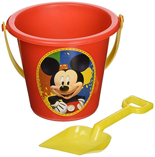 Disney's Mickey Mouse Sand Red Bucket and Yellow Shovel]()