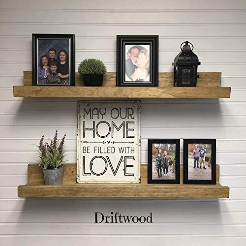 - Picture Ledge Shelf (Choose your Length and Color) - Rustic Handcrafted Solid Wood Shelf - Floating Shelf - Country Home Decor - Decorative Shelving - Book Shelf - Spice Shelf - Nursery Shelf