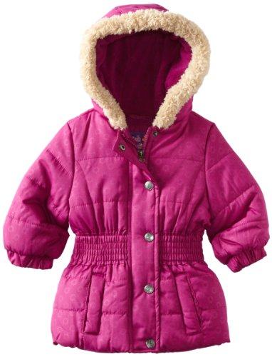 Pink Platinum Baby Girls' Promo Puffer Opaque Circles Jacket