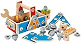 Hape Handyman Go-To-Caddy Kid's Wooden Tool Box Set (Amazon Exclusive)