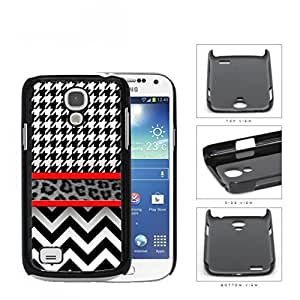 Black And White Hounsdtooth Animal Print Chevron Hard Plastic Snap On Cell Phone Case Samsung Galaxy S4 SIV Mini I9190