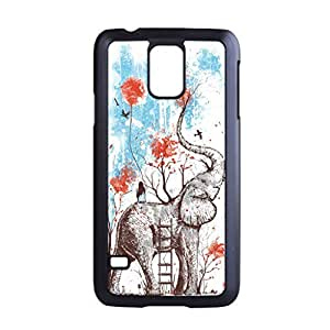 UponStyle Elephant Painting Art Design Print Black Hard Case For Samsung Galaxy S5 case