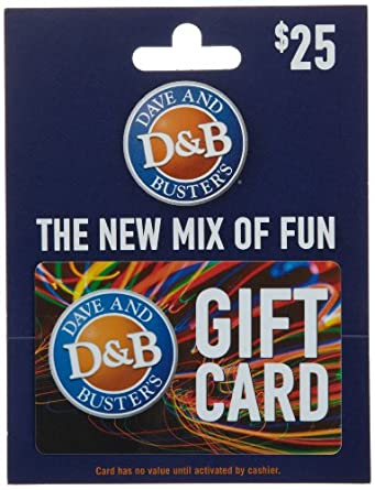 Amazon.com: Dave & Busters Gift Card $25: Gift Cards