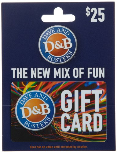 Dave & Busters Gift Card $25 - Card Can A I Return Gift